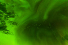 Green Northern Lights night sky abstract backdrop Royalty Free Stock Photo