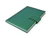 Green note book. Royalty Free Stock Photos