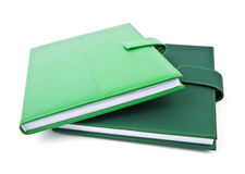 Green note book. Stock Image
