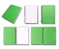 Green note book Stock Photos