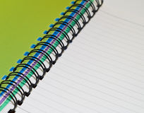 Green note book Royalty Free Stock Images