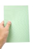 Green note paper Royalty Free Stock Image