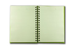 Green notebook Royalty Free Stock Photo