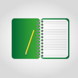 Green notebook Stock Photo