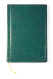 Green notebook Stock Image
