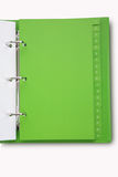 Green notebook royalty free stock image
