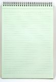 Green notebook. Notebook on white royalty free stock photography
