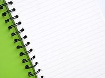 Green notebook royalty free stock photography