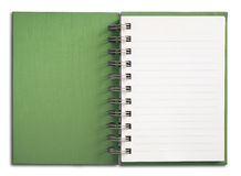 Green Notebook vertical Royalty Free Stock Photos