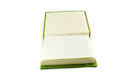 Green notebook Royalty Free Stock Images
