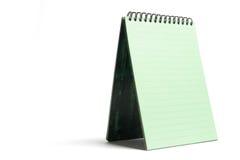 Green Notepad Stock Photo