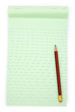 Green notepaper Stock Photography