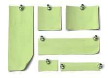 Green notes Royalty Free Stock Photography