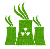 Green nuclear power plant icon Royalty Free Stock Photo