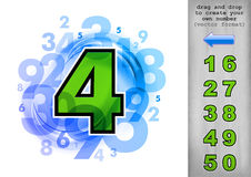 Green number Royalty Free Stock Images