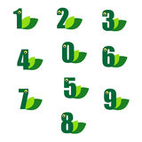 Green number Royalty Free Stock Photo