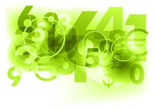 Green numbers royalty free illustration
