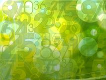 Green numbers background Stock Images
