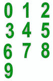 Green numbers from cubes Stock Images