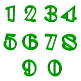 green numbers Royalty Free Stock Photos