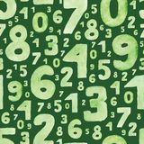 Green numbers Stock Images