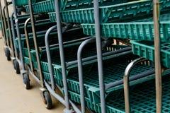 Green nursery carts Royalty Free Stock Photo