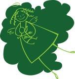 Green nursing angel Royalty Free Stock Image