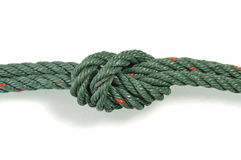 Green nylon rope Stock Photography