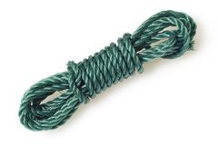 Green nylon rope Royalty Free Stock Photos