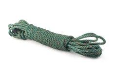 Green nylon rope isolated on white Stock Photo