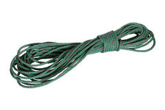 Green nylon rope isolated on white Stock Images
