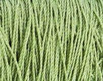 Green nylon Rope texture pattern Royalty Free Stock Image