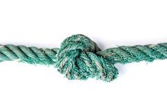 Green nylon rope Stock Photo