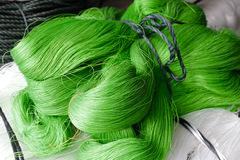 Green nylon yarn Royalty Free Stock Photos