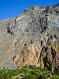 Green oasis on the bottom of Colca Canyon in Peru Royalty Free Stock Image