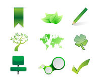 Green objects icon set illustration design Royalty Free Stock Images
