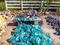 Green obsidian stones Stock Image