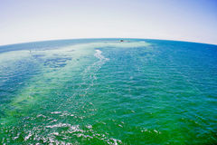 Green ocean on a planet Earth Royalty Free Stock Image