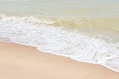 Green ocean wave with white sand Royalty Free Stock Photography