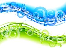 Green och blue vektor illustrationer