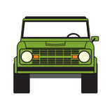 Green off road car Stock Image