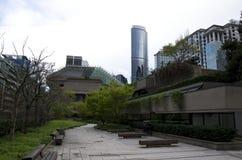 Green office building garden Stock Photo