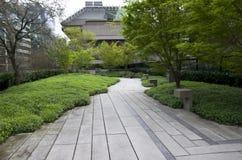 Green office building garden Royalty Free Stock Photos