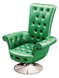 Green office chair with clipping path 3d. Render Stock Image