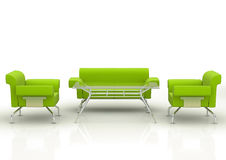 Green office sofa Royalty Free Stock Image