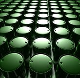 Green oil barrels stock illustration