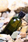 Green oil bottle Stock Photography
