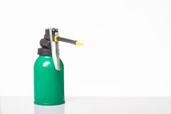 Green oil can Royalty Free Stock Photos