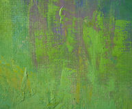 Green oil on canvas Royalty Free Stock Photo
