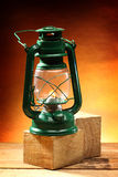 Green oil lamp Stock Photography